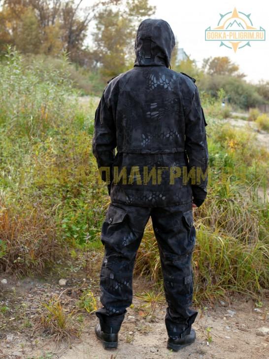 Костюм горка 7 черный питон, летний