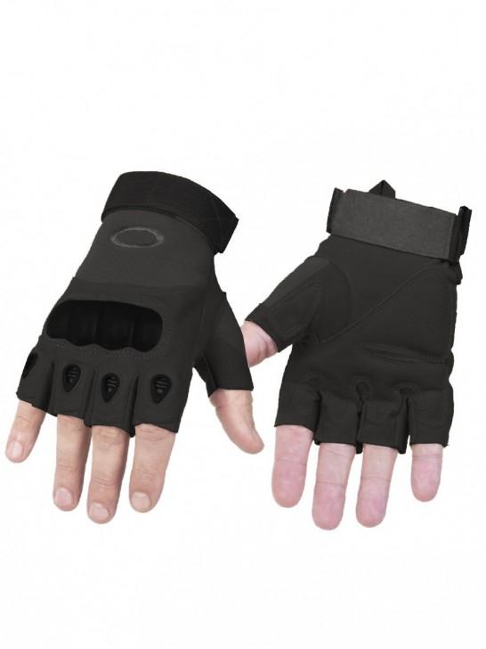 Перчатки тактические беспалые, черные