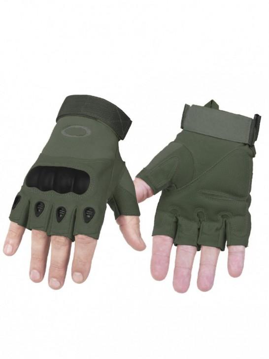 Перчатки тактические беспалые, олива