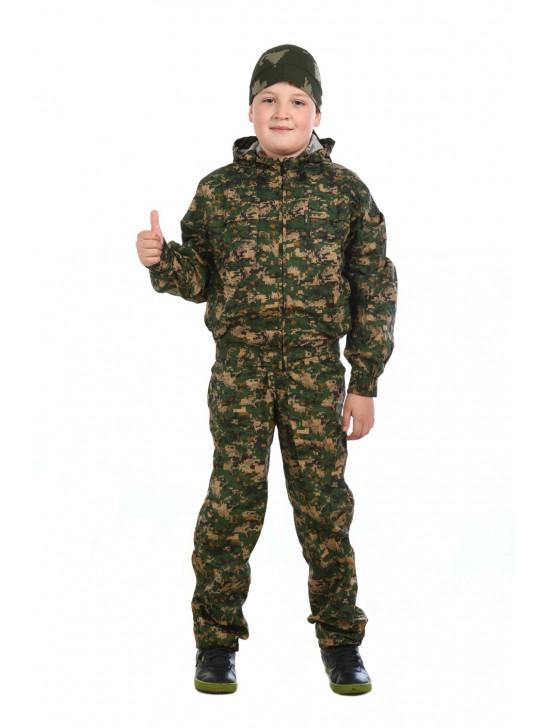 Костюм детский маскировочный коричневая цифра